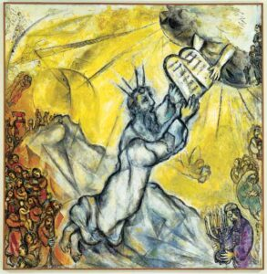 Marc Chagall: Moses Receives the Ten Commandments