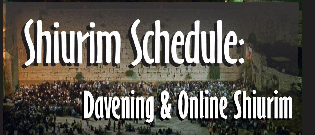 Tisha B'Av 5781:  Davening, Shiurim and Video Schedule