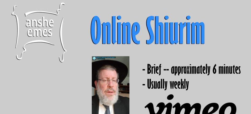 Vimeo Shiurim (Updated:  Toldos 5781: Point of Impact)
